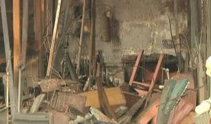 Plaza Dos de Mayo: incendio en casona dejó cuantiosas pérdidas materiales