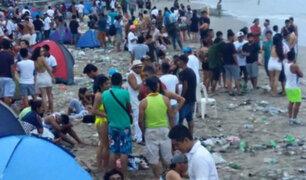 Máncora: realizan limpieza de playa tras celebraciones por Año Nuevo
