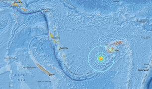Terremoto de 6.9 grados remeció las Islas Fiji
