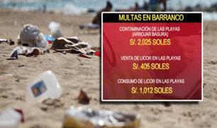 Multas de S/ 2,025 para quienes arrojen basura en las playas de Barranco