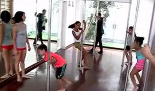 """Los niños también pueden aprender """"Pole Dance"""""""