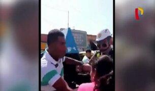 Chiclayo: pareja de esposos protagoniza pelea en plena calle