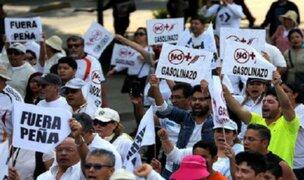 México: se intensifican protestas por alza de gasolina