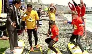 Costa Verde: clases de surf para niños
