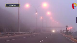 Densa neblina dificultó visibilidad de conductores en Costa Verde