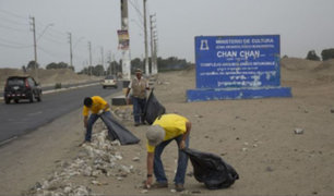 La Libertad: realizan jornada de limpieza en área cercana a Chan Chan
