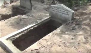 Desborde del río Huallaga afecta cementerio en Tarapoto