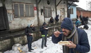 Serbia: refugiados soportan temperaturas bajo cero