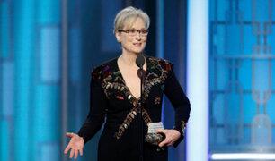 Globos de Oro: Meryl Streep encendió los ánimos con un elocuente discurso