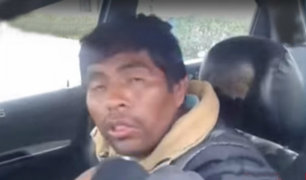 Arequipa: taxista ebrio intentó darse a la fuga, pero se quedó dormido