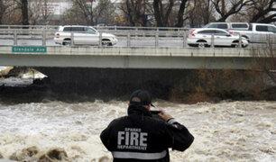 EEUU: fuertes lluvias afectan los estados de California y Nevada
