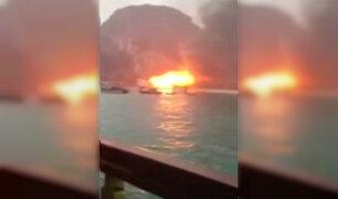 Vietnam: turistas se salvan de morir tras incendio en crucero