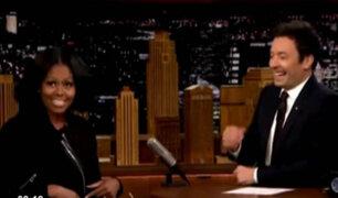 Michelle Obama se despidió de los estadounidenses desde el set de The Tonight Show