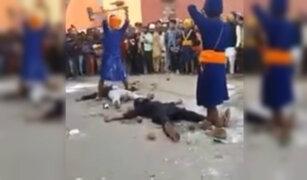 Impactante: acto extremo con una comba causó pánico en la India