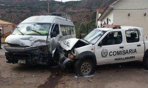 Policía muere tras choque entre patrullero y combi en Cusco