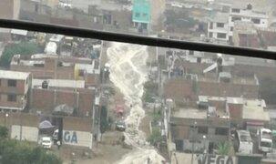 Santa Eulalia: huaico afecta al menos 50 viviendas y bloquea Carretera Central
