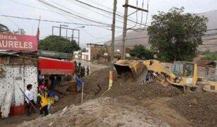INDECI: 96 viviendas han sido afectadas por las lluvias y huaicos