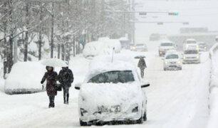 Tormenta de nieve azota el norte de Japón