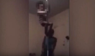 VIDEO: obliga a su pequeña hija a aprender 'pole dance'