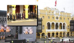 Plaza de Armas: ceremonia por el 482 aniversario de Lima