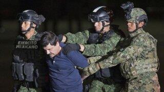Narcotraficante mexicano 'El Chapo' Guzmán es extraditado a Estados Unidos