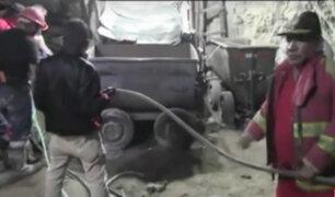 Rescate de mineros en Arequipa se retrasa por falta de equipos
