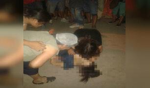 Joven murió tras ser asaltada en la puerta de su casa en Independencia