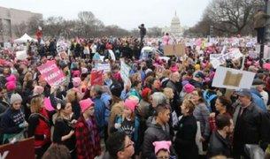 Miles de mujeres marcharon en Estados Unidos contra Donald Trump