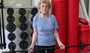 Australia: mujer de 94 años asiste al gimnasio 5 veces a la semana