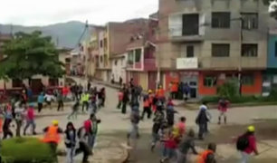 Huánuco: se registran violentos enfrentamientos entre obreros de Construcción Civil