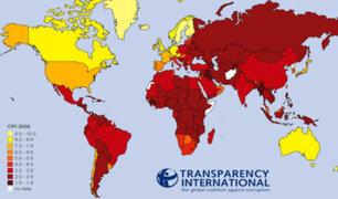 Transparencia Internacional: Perú en puesto 101 en ranking de corrupción mundial