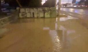 Río Rímac se desbordó cerca de la autopista Ramiro Prialé