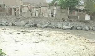 Pobladores de Lima Norte preocupados por crecida del río Chillón