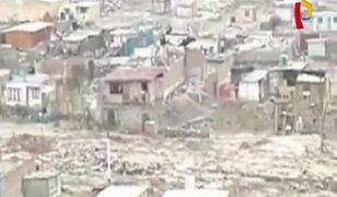 Chosica: nuevo huaico sorprende a vecinos y causa daños en viviendas