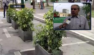 San Isidro: alcalde responde a polémica por colocación de macetas en estacionamientos
