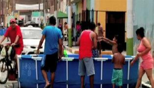 Callao: instalan piscinas pese a restricción de agua