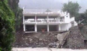 Santa Eulalia: edificio está a punto de colapsar por crecida de río