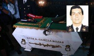 Restos del mayor Luis García Rojas ya descansan en la Cripta de los Héroes