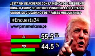 Encuesta 24: 55.5% de acuerdo con medida migratoria de Donald Trump