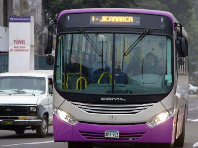Corredor SJL: desde hoy buses morados circulan por la av. Abancay