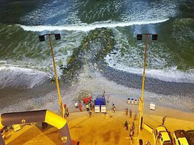 Playa La Pampilla: Marina multaría a la Municipalidad de Lima por iluminación nocturna