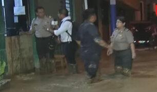Río Huaycoloro: se inundó comisaría de Piedra Liza
