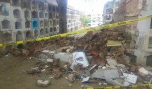 Piura: 20 nichos de cementerio colapsan por intensas lluvias