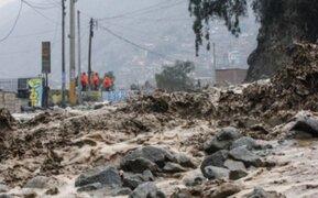 URGENTE: nuevo huaico inunda al menos 15 viviendas en Jicamarca