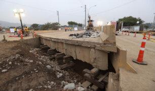 Río Huaycoloro: continúan trabajos para instalar puente Bailey