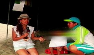 El drama de los niños perdidos en la playa