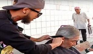Percy Azabache: el peluquero de los mendigos