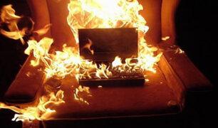 EE.UU.: laptop explotó cuatro veces seguidas
