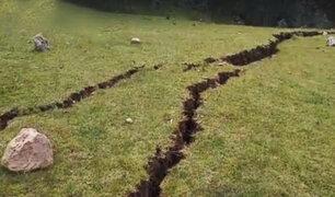 Cusco: inmensa falla geológica alarma a pobladores del  distrito de Anta