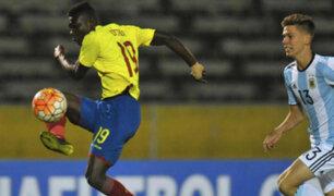 Colombia cayó golpeado 3-0 ante Ecuador en el Sudamericano Sub-20